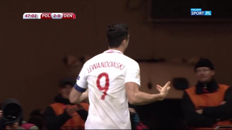 2016-10-08 Polska - Dania 3:0. Gol Lewandowskiego!