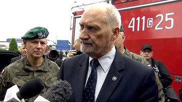 Antoni Macierewicz: nie mam zamiaru słuchać opozycji ws. wysłania wojsk na tereny po nawałnicach