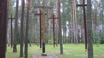Uroczystości na cmentarzu polskich funkcjonariuszy w Miednoje