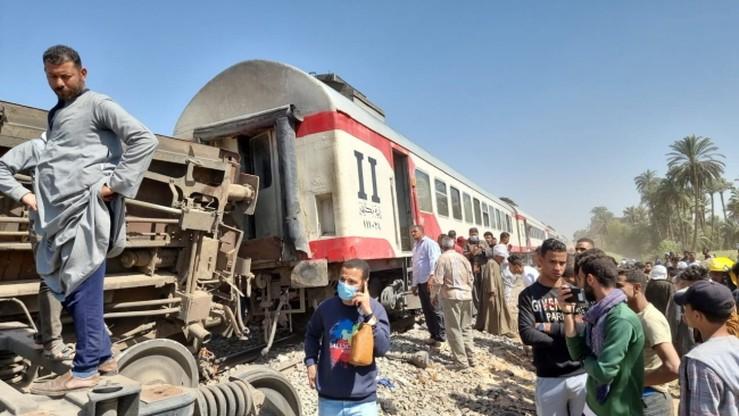 Egipt 32 zabitych i 66 rannych w zderzeniu dwóch pociągów