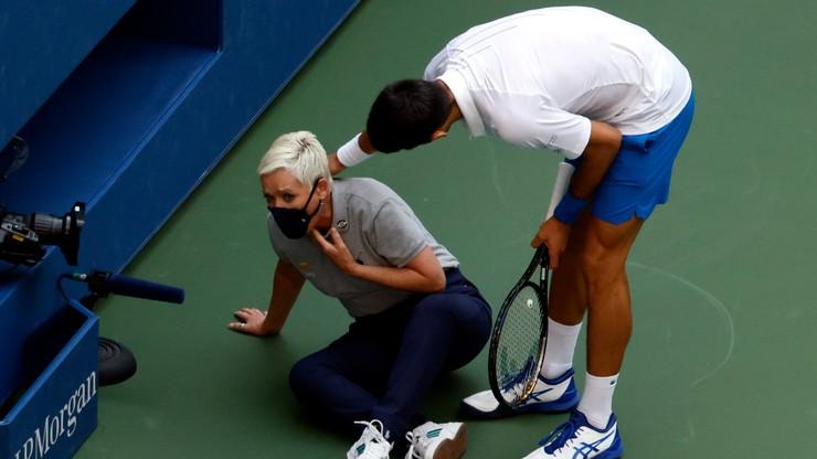 US Open: Novak Djoković zdyskwalifikowany! Kuriozalna sytuacja w trakcie meczu