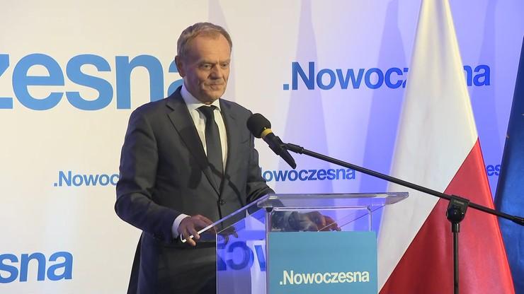 Tusk: obecna władza chce robić zło, nie możemy już dłużej tego tolerować