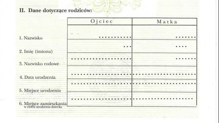 W polskim akcie stanu cywilnego ojcem dziecka musi być mężczyzna - orzekł NSA