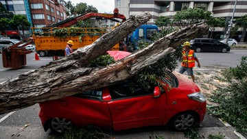 Tajufn Nesat nad Tajwanem. Ponad 80 osób rannych
