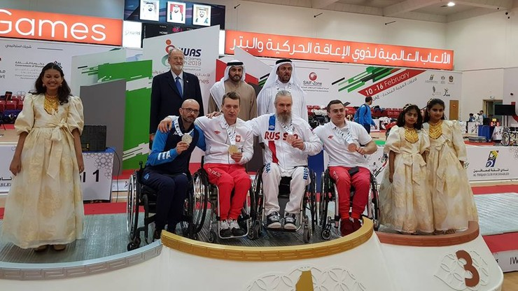 Cztery medale Polaków podczas Pucharu Świata w szermierce na wózkach w Sharjah!