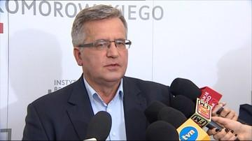 Komorowski: dzisiaj szampana otwierają na Kremlu