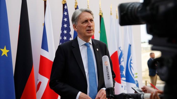 Brytyjski minister finansów zapowiedział rezygnację. Postawił warunek