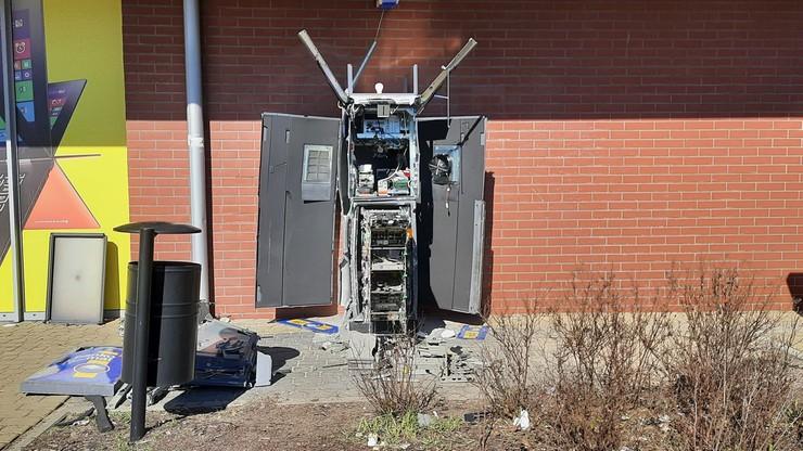 Włamania do bankomatów. Maszyny wysadzone