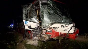 Wypadek autobusu pod Wrocławiem. 14 osób zostało rannych