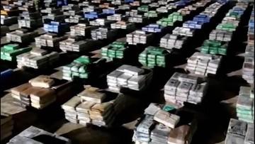 Rekordowy przemyt narkotyków. Przejęto 5,5 ton kokainy