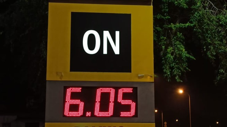 Ceny paliw: ponad 6 zł za litr oleju napędowego w Warszawie