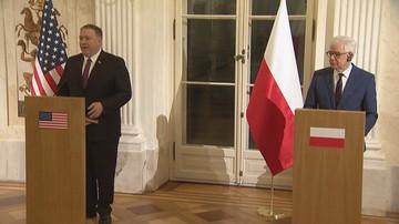 """Spotkanie Czaputowicz-Pompeo. """"Trump jest wdzięczny, że Polska wywiązuje się ze zobowiązań"""""""