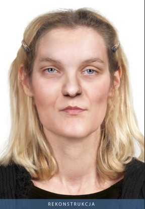 Policyjna rekonstrukcja twarzy zamordowanej