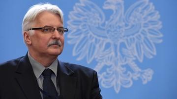 Waszczykowski: wypowiedź szefa PE nieuprawniona i skandaliczna
