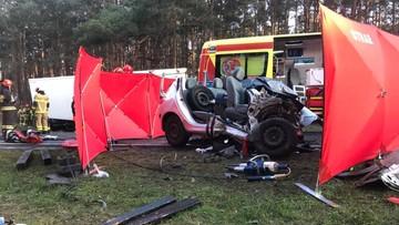 Śmiertelny wypadek w Stryszku (Kujawsko-Pomorskie). Droga jest już przejezdna