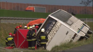 Dwie osoby zginęły, 29 poszkodowanych w wypadku autobusu w Kujawsko-Pomorskiem