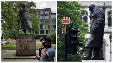 """""""Był rasistą"""". Pomnik Churchilla w Pradze zdewastowany"""
