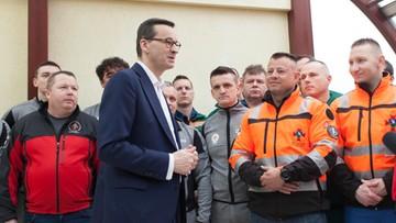 """Premier spotkał się z górnikami z kopalni Rudna. """"Jesteśmy z Was dumni"""""""