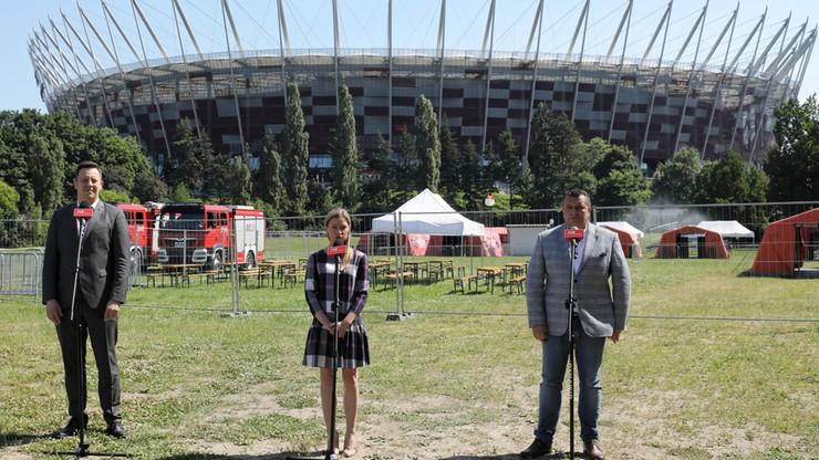 Warszawa. Masowe szczepienia w strefie kibica na Stadionie Narodowym