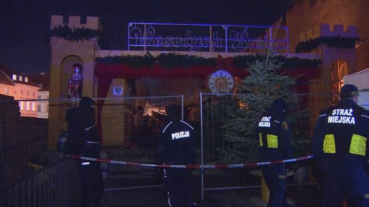 Pożar na świątecznym jarmarku w Warszawie
