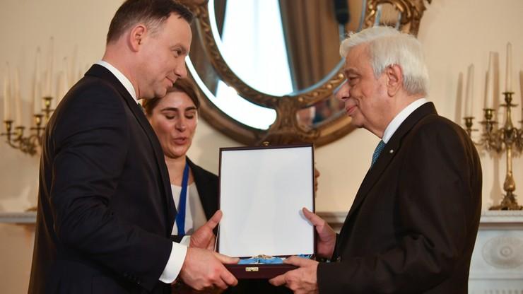 Andrzej Duda odznaczył prezydenta Grecji Orderem Orła Białego