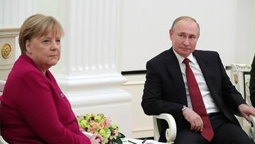 """Putin rozmawiał z Merkel o możliwości """"wspólnej produkcji szczepionek"""""""