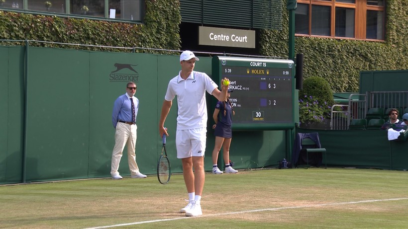 Wimbledon: Hubert Hurkacz - Aleksander Bublik. Transmisja TV i stream online