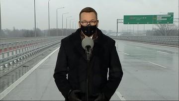 """""""Ta droga, to szansa na odbicie gospodarki po pandemii"""". Premier o Południowej Obwodnicy Warszawy"""