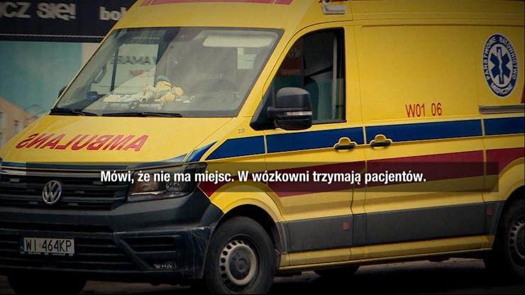 """Dramatyczne nagrania z karetek. """"Mają minus pięć miejsc"""""""