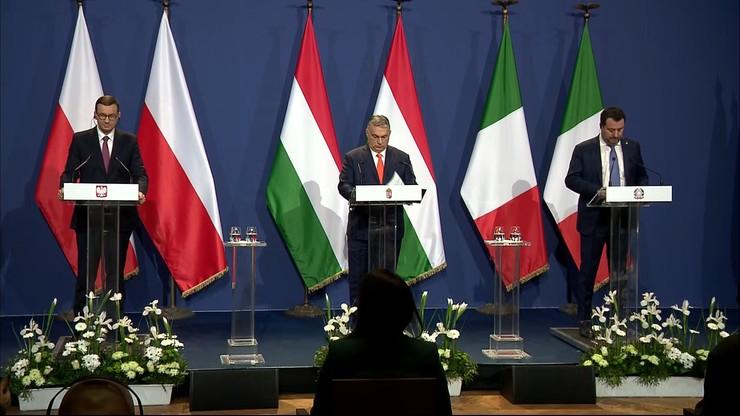 Morawiecki po spotkaniu z Orbanem i Salvinim: Europa nie może być dyktatem silniejszych