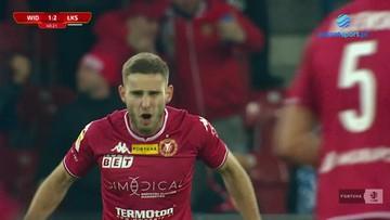 Widzew Łódź - ŁKS Łódź 1:2. Gol Patryka Stępińskiego
