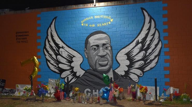USA. Mural Georga Floyda w Toledo został zniszczony przez piorun