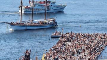 Fala upałów dotarła do Skandynawii. Policja ostrzega przed... spragnionymi łosiami