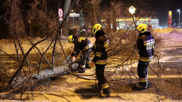 Halny w Beskidach i na Podhalu. Wiele interwencji straży pożarnej, zerwane dachy i powalone drzewa