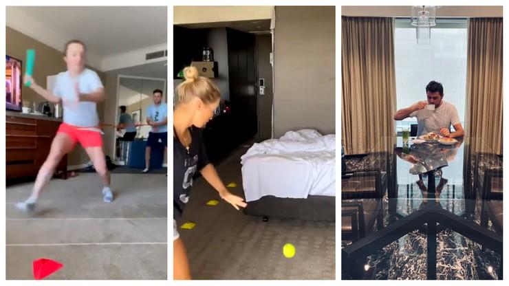Koronawirus na Australian Open. Gwiazdy tenisa trenują w pokojach hotelowych