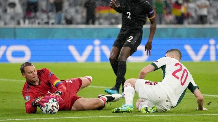 Euro 2020: Niemcy - Węgry 0:1. Gol Adama Szalaia