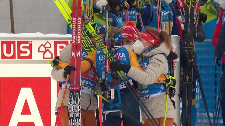 PŚ w biathlonie: Polki 14. w sztafecie w Oberhofie, wygrały Niemki