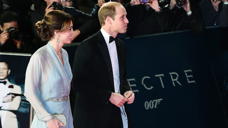 Kate, William i Harry na premierze nowego Bonda