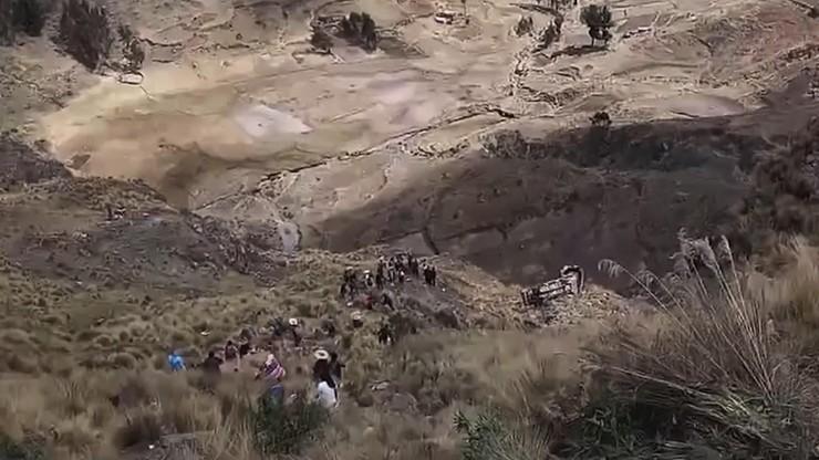 Boliwia. Tragiczny wypadek autokary. Nie żyją co najmniej 23 osoby