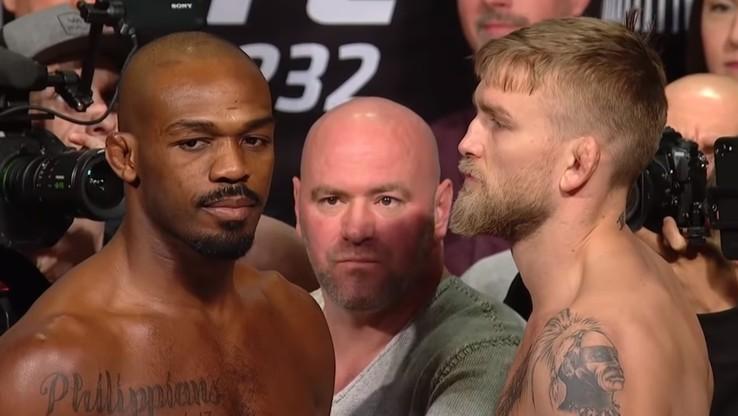 UFC 232: Prowokacje Jonesa i Gustafssona na ceremonii ważenia