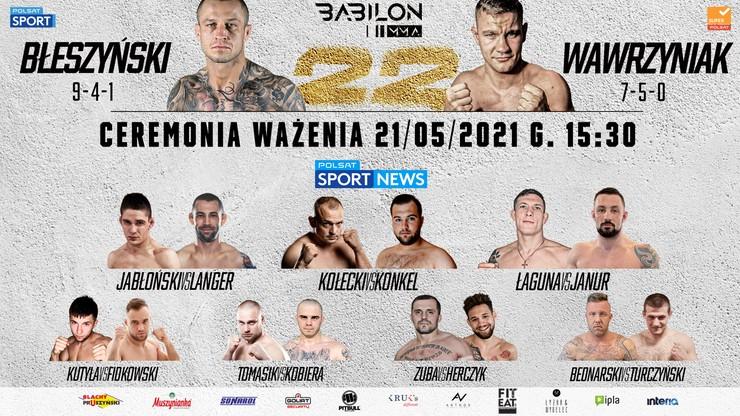 Ważenie przed galą Babilon MMA 22: Transmisja TV i stream online
