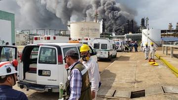 Trzech zabitych, 136 rannych w wybuchu w zakładach petrochemicznych w Meksyku