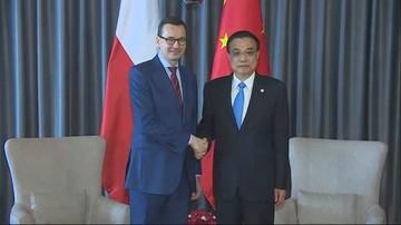 Spotkanie Morawieckiego z premierem Chin. Rozmowy dot. eksportu polskiej żywności i mebli