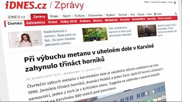 """""""Największa górnicza katastrofa w Czechach od 28 lat"""". Wybuch w kopalni w czeskich mediach"""
