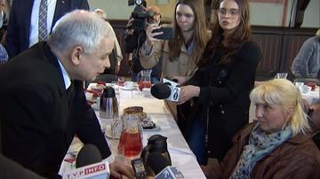 Prezes PiS do niepełnosprawnej: jest taka prośba o to, żeby nas popierać, a nie przeszkadzać