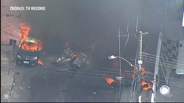 Katastrofa samolotu w Brazylii. Maszyna spadła na dzielnicę mieszkalną