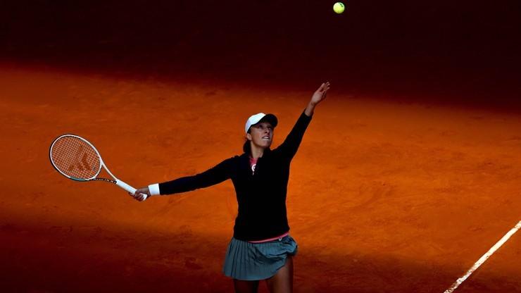 WTA w Rzymie: Ćwierćfinał Świątek - Switolina przełożony