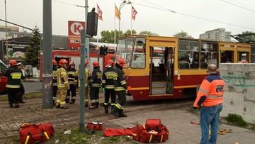 Pięć osób rannych po wykolejeniu się tramwaju w Łodzi