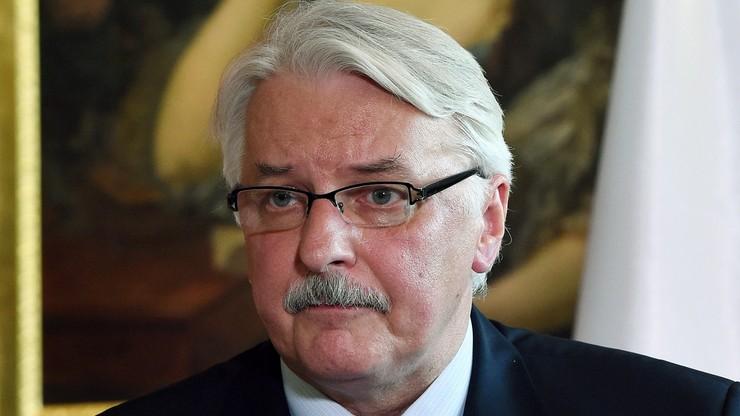 Waszczykowski przekazał opinię KE premier i prezydentowi. Sam jeszcze jej nie czytał