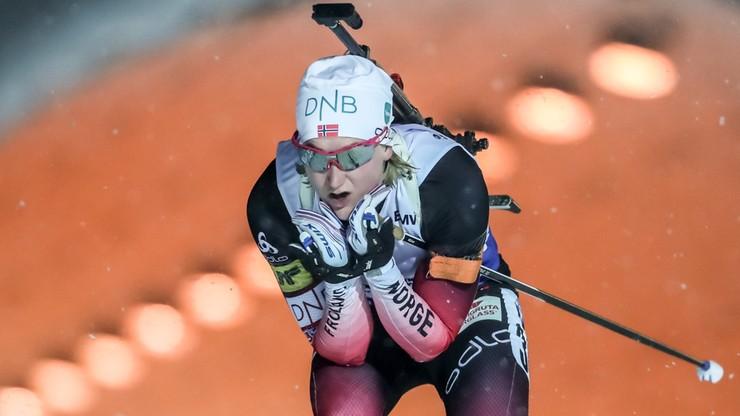 PŚ w biathlonie: Wygrana Norweżki. Polki na odległych miejscach
